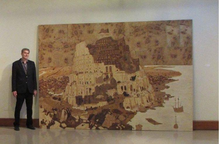 Intarsienbilder, Wurzelholz, Ausstellung, Marketerie, Kunsthandwerk