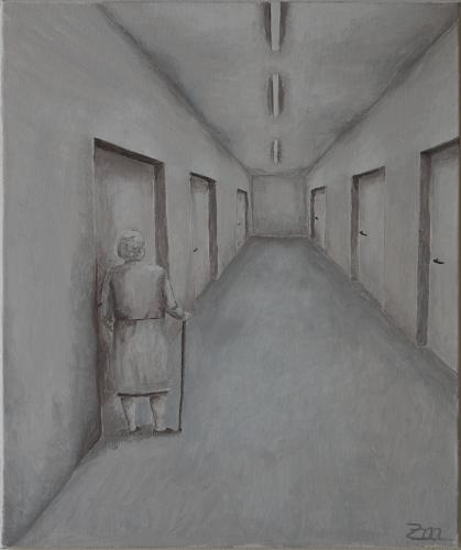 Acrylmalerei, Alt, Einsamkeit, Malerei,