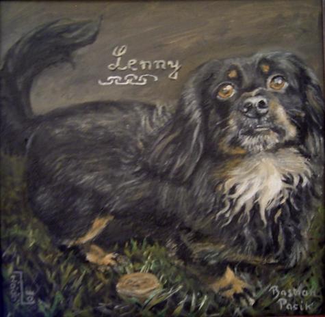 Hundeportrait, Tierportrait, Hund, Malerei, Tiere
