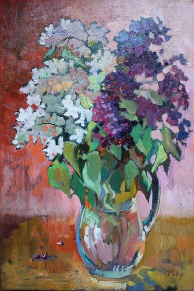 Flieder, Ölmalerei, Malerei