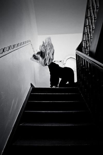 Schwarzweiß, Monochrom, Indoor, Frau, Fotografie