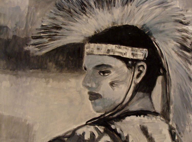 Amerika, Malerei, Pow, Menschen, Wicken,