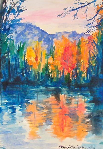 Malerei, Landschaft, Berge