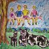 Skizze, Menschen, Tiere, Zeichnungen