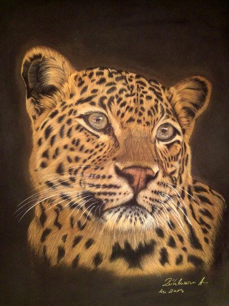 Katze, Leopard, Malerei