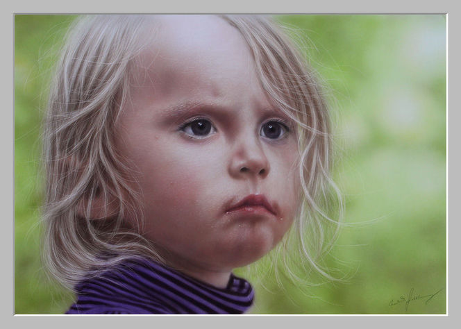 Mädchen, Schmincke, Portrait, Kind, Haare, Trotz