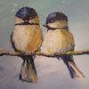 Meise, Vogel, Tiere, Malerei