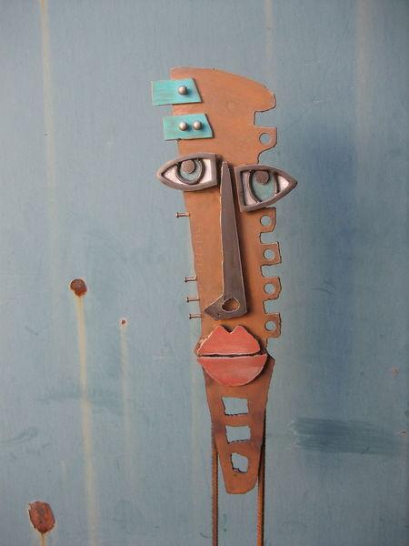 Rost, Metallskulptur, Massiv, Rostig, Farbmaske, Baustahl