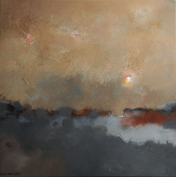 Winter, Kalt, Osten, Malerei, Abstrakt