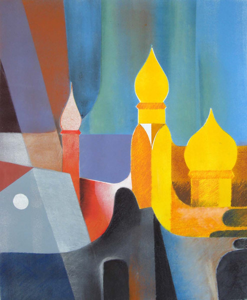 Malerei, Abstrakt, Stadt