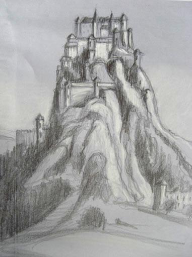 Burg Zeichnen