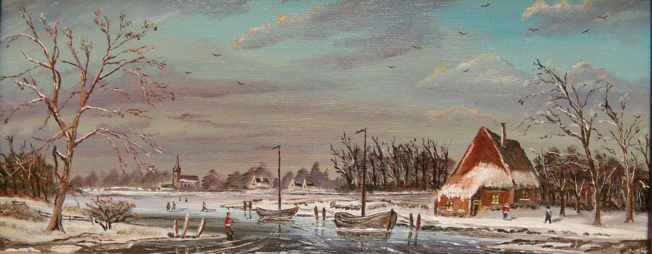 HEE WAG Holland-Malerei der Windm/ühle der Landschaft mit einzigartigen Zahlen DIY