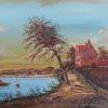Herbst, Gemälde, Zeitgenössisch, Haus