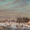 Holländische malerei, Himmel, Landschaft, Eis