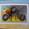 Malerei, Zeitgenössischer maler, Ölmalerei, Halogenstrahler