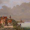 Gemälde, Zeitgenössisch, Gracht, Kirche