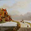 Holländische malerei, Stadt, Eis, Person