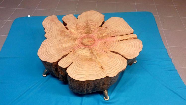 Tisch, Couchtisch, Baum, Holz, Kunsthandwerk,