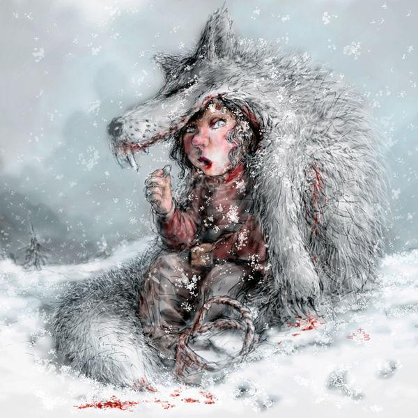 Werwolf, Rot, Rotkappe, Houdini, Hund, Reiten