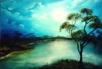 Malerei, Stille, Wasser