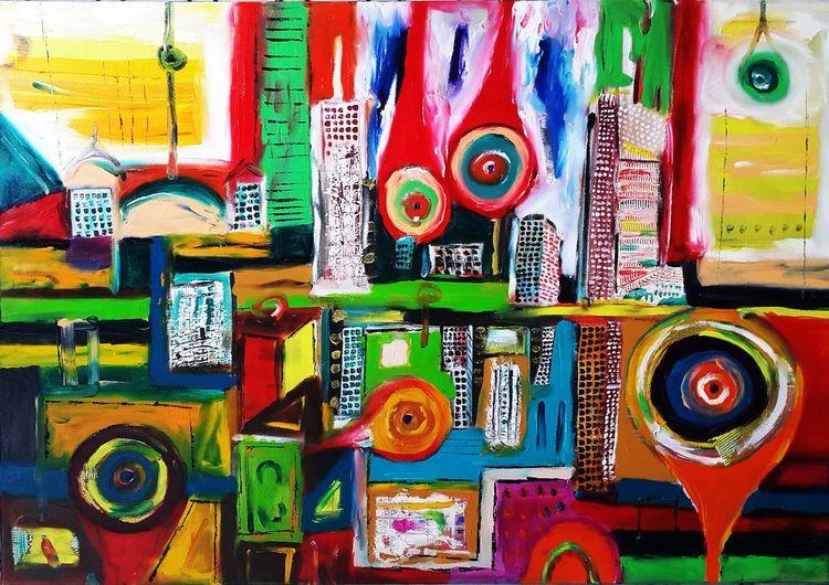 Stadt der träume, Malerei,