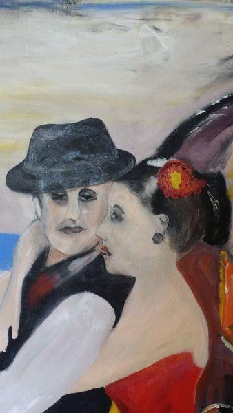 Tanz, Tango, Argentinien, Malerei
