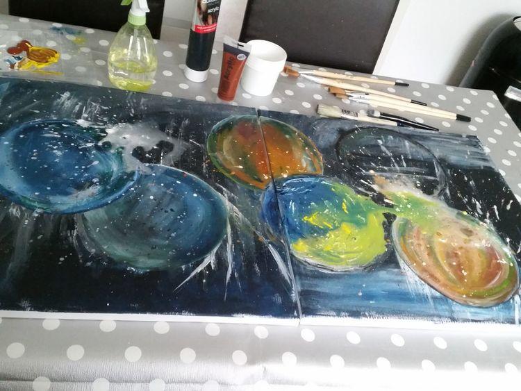 Abstrakte malerei, Inspirieren, Fantasie, Malerei