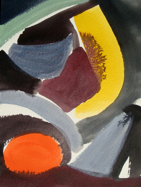 Malerei, Abstrakt, Rot, Gelb, Farben