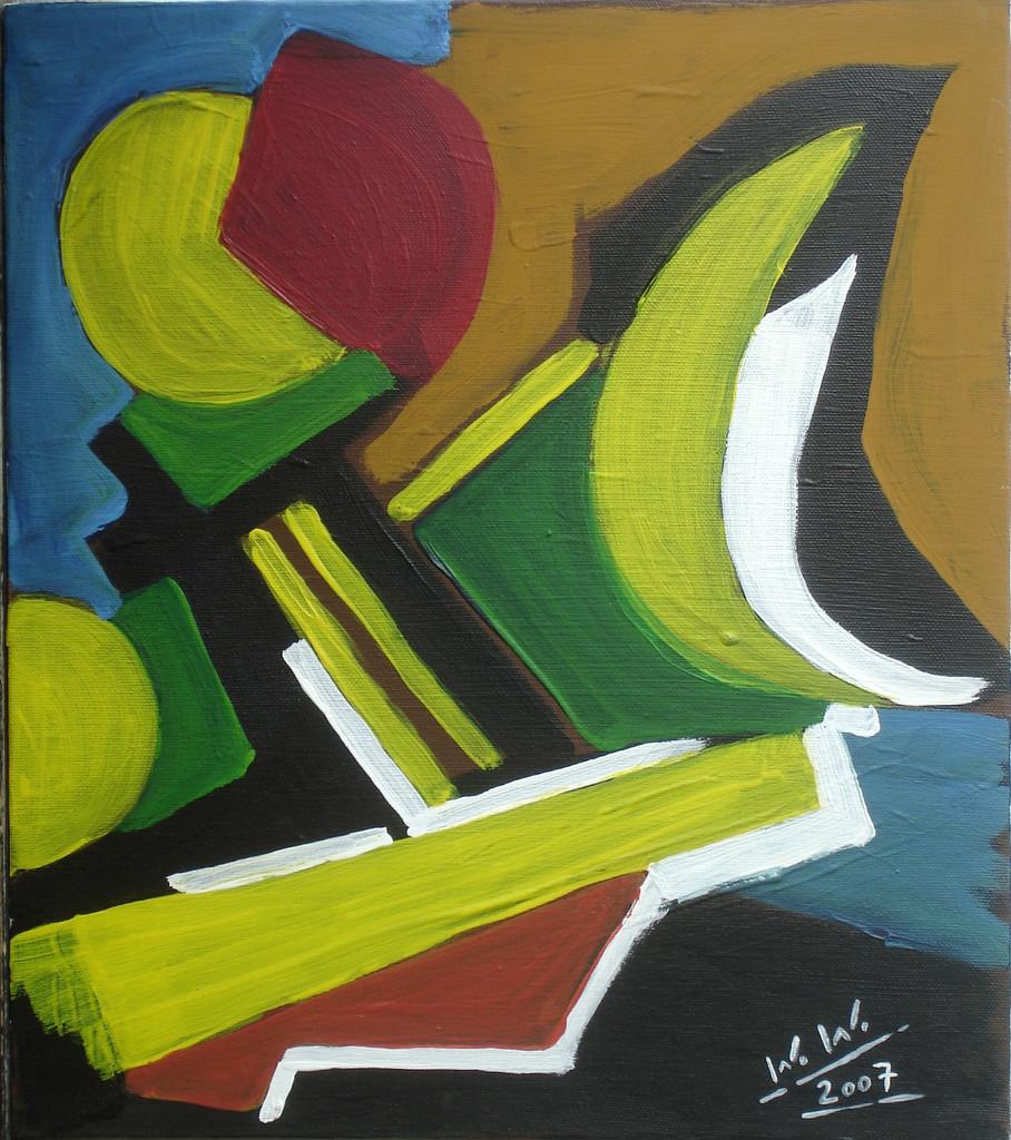 Kleine abstraktion acryl auf leinwand 2oo7 wolfgang f