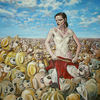 Expressionismus, Surreal, Überbevölkerung, Malerei