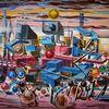 Zeitgenössische malerei, Modern, Abstrakte malerei, Landschaft