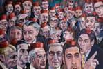 Brechen, Politik, Figural, Malerei