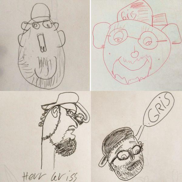 Handycapped, Zeichnung, Portrait, Zeichnungen