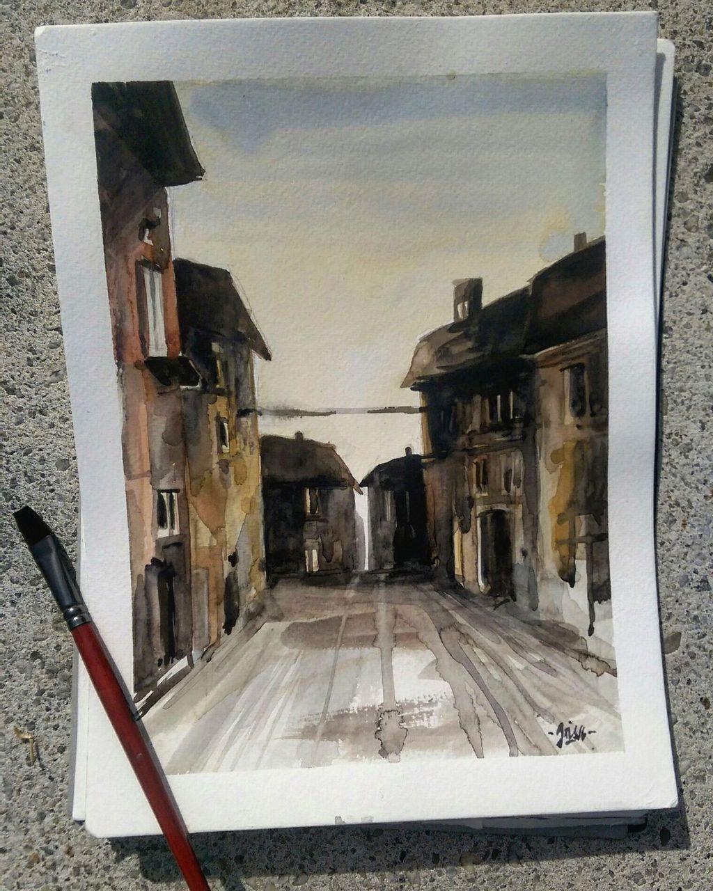 Bild aquarellmalerei architektur italien malreise von for Architektur aquarell