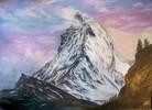 Landschaft, Berge, Zeichnung, Zeichnungen
