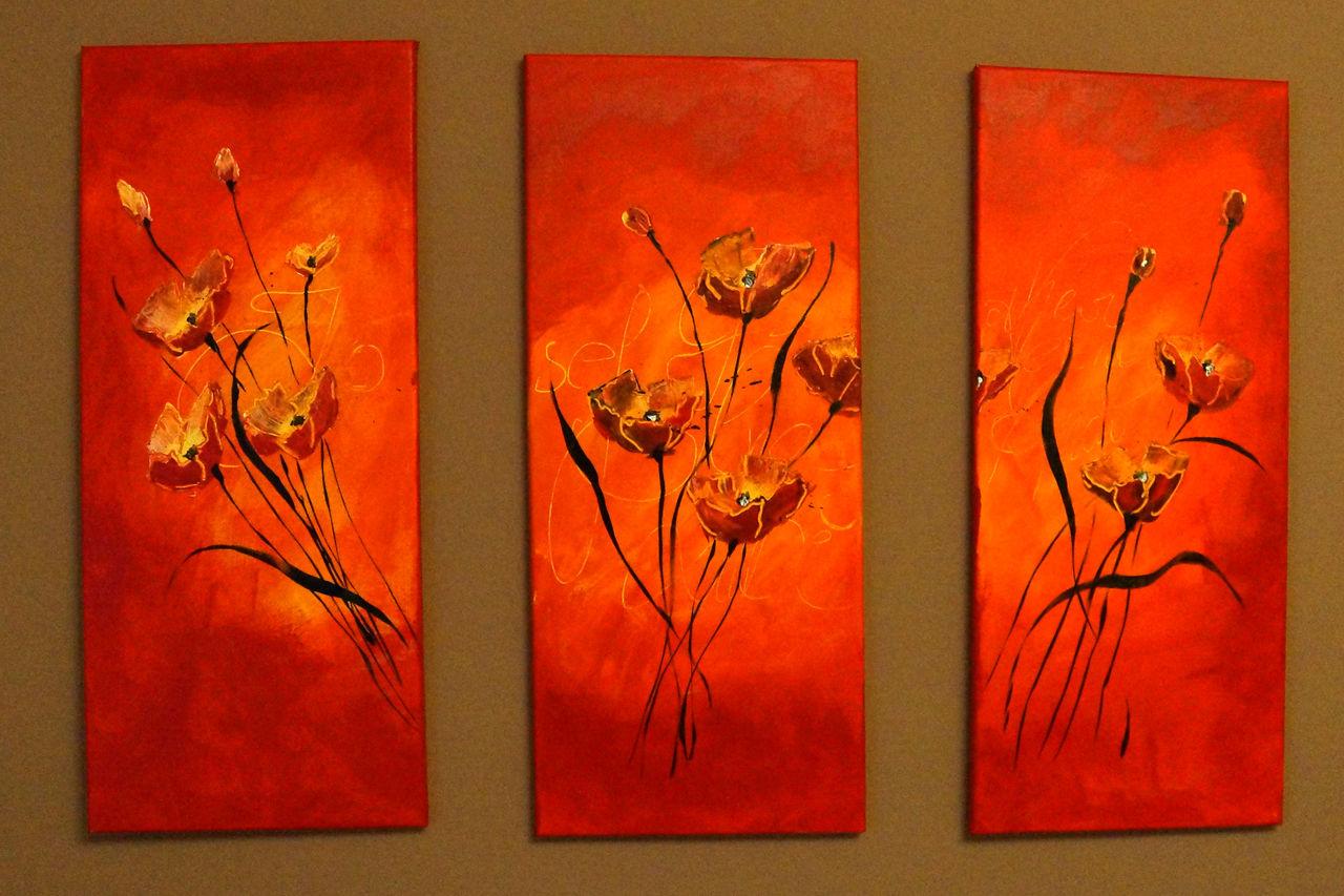 bild gelb mohnblumen stimmung rot malerei von kurt. Black Bedroom Furniture Sets. Home Design Ideas