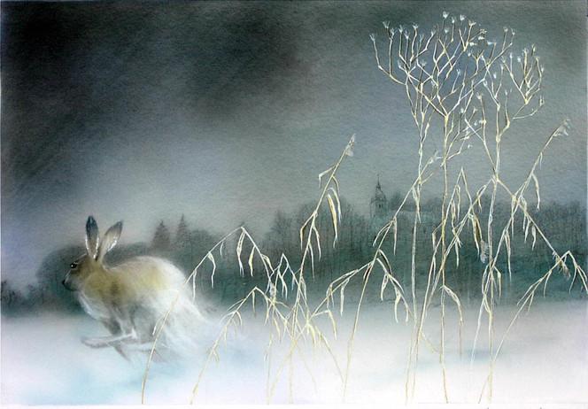 Tiere, Wildlife art, Winterbilder, Chiemgau, Landschaftsmalerei, Magische landschaften