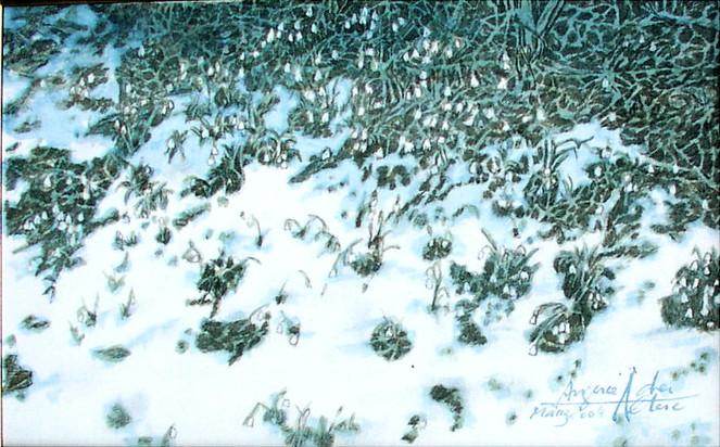 Landschaftsmalerei, Plainburg, Saalach, Zorn, Untersberg, Hochstaufen