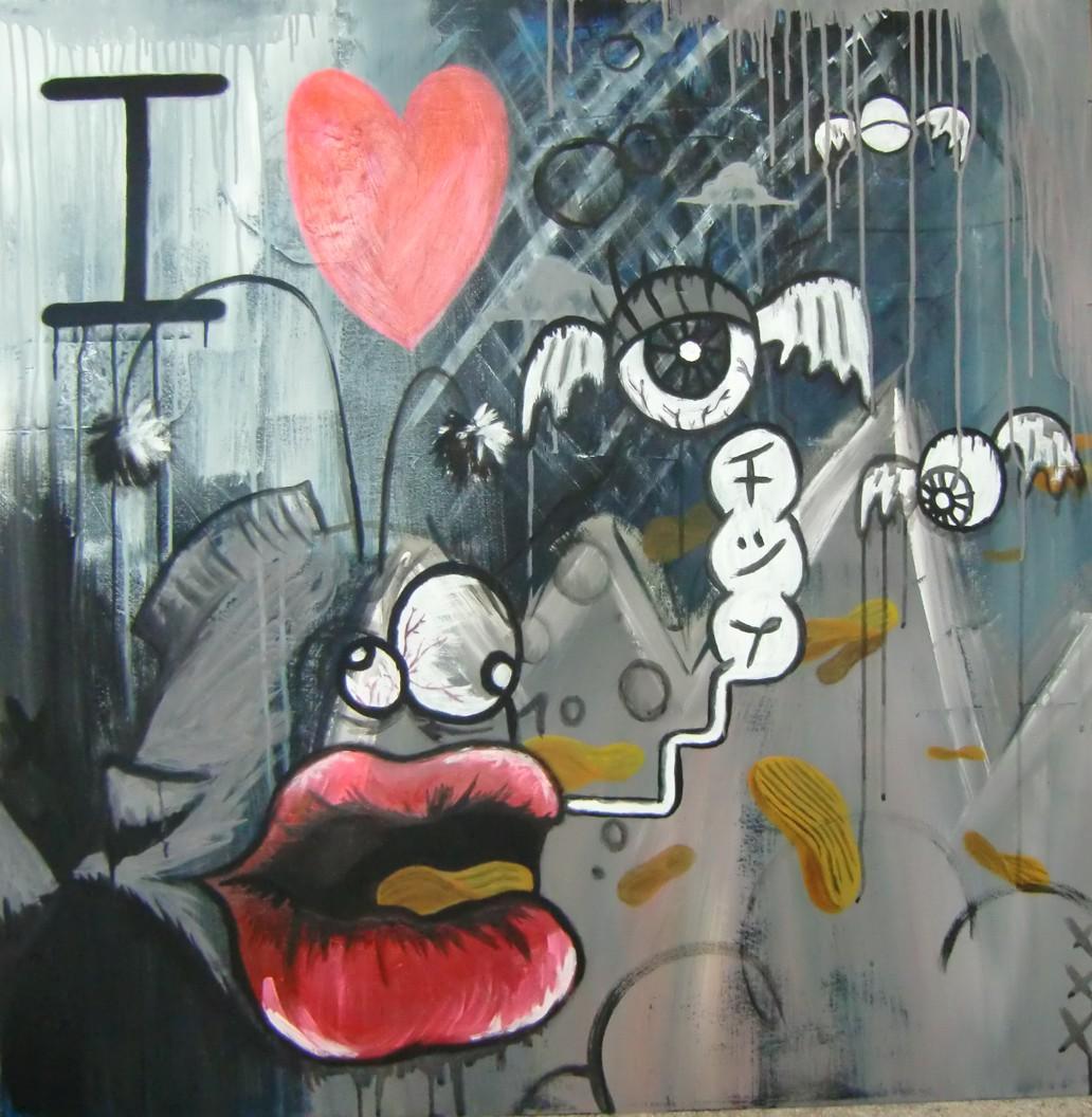 Bild malerei von christoph osebold bei kunstnet for I love the fishes