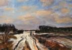 Norden, Winter, Acrylmalerei, Schnee