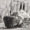 Dampfschlepper, Passagierschiff, New york, Schiff