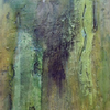 Grün, Acrylmalerei, Pigmente, Marmormehl