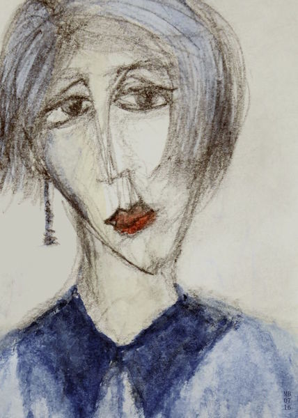 Blau, Blues, Gedanken, Melancholie, Zeichnungen