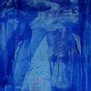 Blau, Falknerin, Acrylmalerei, Malerei