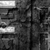Zerfall, Tür, Zaun, Schwarzweiß