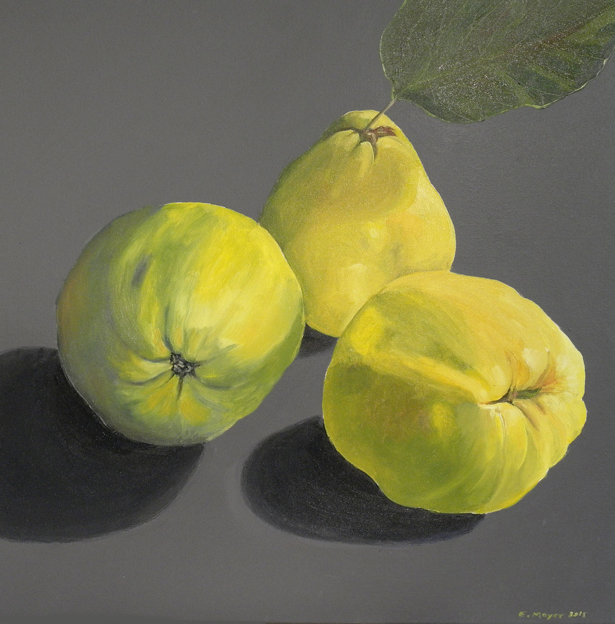 Bild: Quitten, Obst, Gelb, Grau von erich mayer bei KunstNet