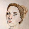 Portrait, Irritieren, Frau, Mädchen