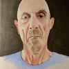 Portrait, Alter mann, Onkel nolte, Malerei