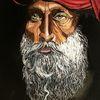 Roter turban, Bart, Portrait, Malerei