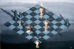 Escher, Schatten, Springer, König
